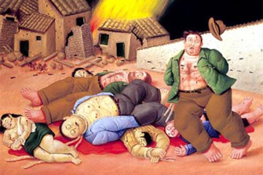 Masacre en Colombia de Fernando Botero